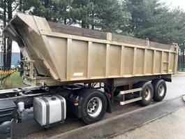 tipper semi trailer Benalu 25m³ - Fruehauf Tipper / Benne -  2-axles F - STEEL SPRING / LAMES - alu / alu - good condition / bonne etat condition 1992