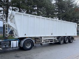 tipper semi trailer Benalu 55m³ GROSS VOLUME KIPPER - ALU / ALU - LIFT ACHSE - 3-ACHSE SMB - TROMMELBREMSEN 2007