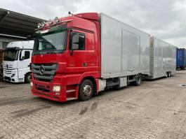 car transporter truck Mercedes-Benz 1844  Autotransporter Geschlossen  mit Anhänger 2009