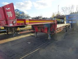 semi lowloader semi trailer Goldhofer 4 ASSIGE SEMIE DIEPLADER / STUURASSEN / BELGIUM DOCUMENTS / KEURING / TUV !! 1989