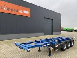 container chassis semi trailer Groenewegen 20FT/30FT, valid ADR (EX/II, EX/III, FL, AT), ALCOA, NL-Chassis, APK 22-6-2021, 80% banden 2006