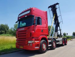 container truck Scania R 480 8X2 NCH Manual Retarder 2008