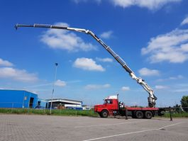 drop side truck Scania 142 E 6x4 + MKG 55 t/m Jib 1997