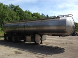 tank semi trailer semi trailer ETA AVEC CITERNE EN INOX 25000L- 3 COMPARTIMENTS very clean 1998