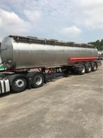 tank semi trailer semi trailer Burg 3 ASSEN TANK IN ROESTVRIJ STAAL 31000 L - 4 COMPARTIMENTEN dutch papers 1992