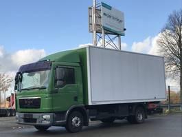 closed box truck MAN TGL 12.220 FL Koffer + LBW Alukoffer 5,5 m mit Seitentür 2011