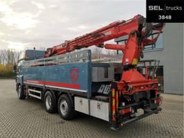 crane truck DAF 85.410 T / Lenkachse / Kran 25,20 m