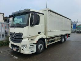 drop side truck Mercedes-Benz ANTOS 2536 L Pritsche 7,35 m LBW 2 T*Lenkachse 2013