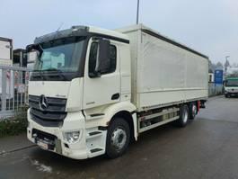 sliding curtain truck Mercedes-Benz ANTOS 2536 L Pritsche 7,35 m LBW 2 T*Lenkachse 2013