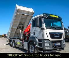 tipper truck > 7.5 t MAN TGS 26.460 6x2/4, Kran + Dreiseitenkipper 2019