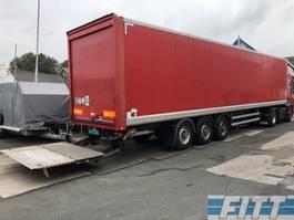 closed box semi trailer Samro ST39MH 3ass gesloten opbouw, hardhout vloer, ov klep 2012