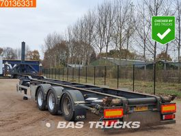 container chassis semi trailer LAG O-3-39 KC 3 axles Kipp chassis ADR Liftachse 2008