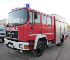 other trucks MAN 12.222 TLF 16/25 4X4 DoKa AHK FEUERWEHR LÖSCHFAH 1996