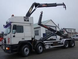 container truck MAN 35-463 8x4 16 ton kraan en haaksysteem 1999
