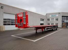 flatbed semi trailer Kel-Berg 7.5 m udtræk 2019