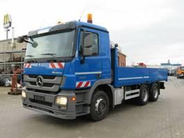 platform truck Mercedes-Benz Actros 2655 L 6x4 Pritsche V8 engine, Blatt/Luft 2010