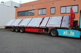 flatbed semi trailer Schmidt 3-ass. Schuinlader // Naloop gestuurd 2010