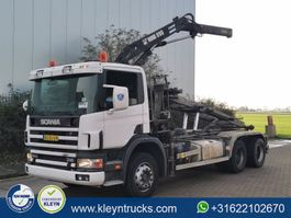 container truck Scania P94-310 6x4 steel hiab 090 1998