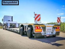 semi lowloader semi trailer Faymonville Maxtrailer 2-Achs-Tiefbett mit Pendelachsen