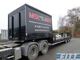semi lowloader semi trailer Goldhofer STZ-LS-30/80 3ass semi dieplader 2x stuuras, dubbele kleppen 1993