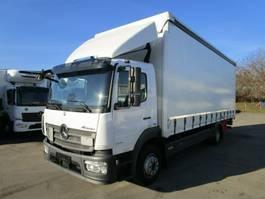 drop side truck Mercedes-Benz ATEGO 1224 L CURTAINSIDER 7,2 m LBW 1,5 T*EDSCHA 2015