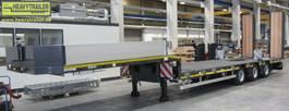 semi lowloader semi trailer Goldhofer 3-Achs-Tele-Semi mit hydr. Rampen Stepstar