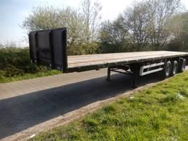 flatbed semi trailer Floor FLO-12-28H 3 As Oplegger Open - T.b.v. Langzaam Verkeer Open, OB-23-LB 1990