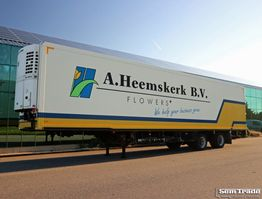 refrigerated semi trailer Floor FLO-12-20K1 BLOEMEN VERKOOP 2-AS STUURAS LAADKLEP THERMO KING 2008