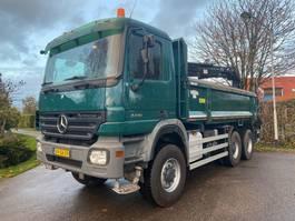 tipper truck > 7.5 t Mercedes-Benz ACTROS 3341 AK 6x6 2 zijdige kipper met afneembare Hiab 122 D-2 duo kraan 2009