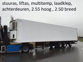 refrigerated semi trailer Schmitz Cargobull stuuras , liftas , multitemperatuur, laadklep , bloemenbreedt , 2.55 hoog