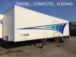 closed box semi trailer Textiel , confectie , kledinghang , citytrailer , laadklep , alluminium