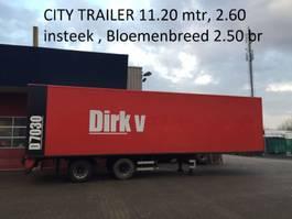 closed box semi trailer Floor Citytrailer gestuurd 11.40 lang 2.60 insteek hoog