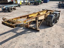 container chassis semi trailer Pacton 20FT - Steelspring - Lames 1973