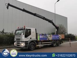 platform truck Iveco AT260S35 STRALIS hiab xs122-3 6x2*4 2005