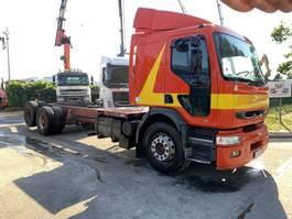 drop side truck Renault PREMIUM 340 - 6x2 - 10 ROUES - 8m80 CHASSIS CABINE - POMPE MECANIQUE - PROPRE - FRANCAIS 1998
