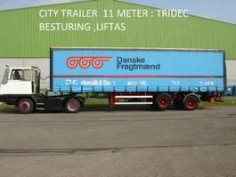 sliding curtain semi trailer HRD Krone HRD 2 ass citytrailer , 11 mtr , TRIDEC sturing , 2500 kg laadklep