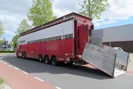 livestock semi trailer Pezzaioli SBA32 2-2, moving floor, moving dak. Cows. Belgium documents 2005