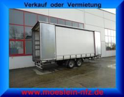 sliding curtain trailer Möslein TP 11 Schwebheim  Tandem- Schiebeplanenanhänger zum Durchladen 2015