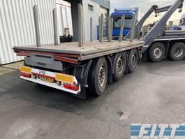 flatbed full trailer H&W 3 ass ballast aanhanger, liftas, stuuras 2015