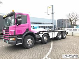 chassis cab truck Scania P114-340 Full steel - Manual - PTO - Mech pump 2002