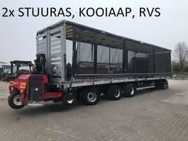 sliding curtain semi trailer LAG kooiaap aansluiting  , 2x  stuuras , liftas , hefdak, geen roest  , RVS vloer 2011