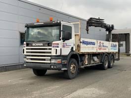 crane truck Scania 114-340HP 6X4 Full Steel Suspension, Crane HIAB 166ES-5 DUO 2002