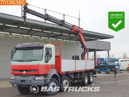platform truck Renault Kerax 370 8X4 Manual Big-Axle Euro 3 PM 23S 2005