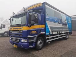 sliding curtain truck DAF CF 75 -310 4x2 Euro 5 - schuifzeilen laadbak 8 mtr - Dhollandia laadklep 2000 kg 2012