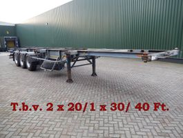 container chassis semi trailer Groenewegen 3 As Oplegger T.b.v. Containertransport, OB-47-ZP 1992