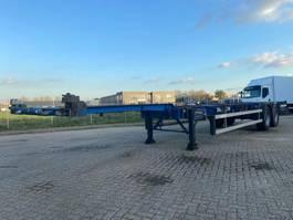 container chassis semi trailer Groenewegen GROENEWEGEN CONTAINER CHASSIS 40FT & 2X 20FT BPW HOLLAND TRAILER NEW APK/TUV 2002