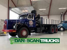 crane truck Scania LB 111 6x2 Tipper Hiab 090 crane 1977
