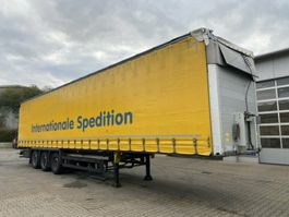 sliding curtain semi trailer Schmitz Cargobull S01 Auflieger Pritsche + Plane + Bordwand 3 Achs