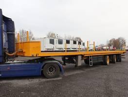 drop side semi trailer Nooteboom OVB 48 VV, 48 to Plateau 2 x teleskopierbar 27.35m 1993