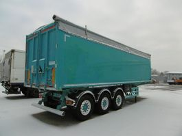 tipper semi trailer Stas Kippmulde Alu-Alu ca. 52m³ wie 50 51 Liftachse 2015